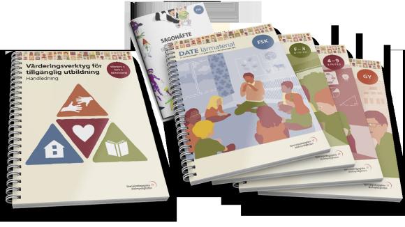 Bilden visar omslag till Värderingsverktyget och DATE lärmaterial