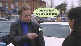 Två personer som kommunicerar