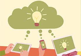 Illustrationen visar en surfplatta, en mobiltelefon och en bärbar dator.