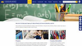 Screenshot av European Agencys webbplats.