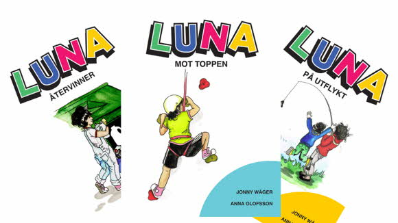Bild på tre bokomslag