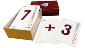 Taktila spelkort som är uppvända.